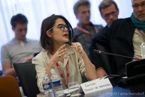 Carmen Bouley de Santiago - Green Cross France at ESA, European Space Agency, Conference Ocean, Paris, France - ©Ania Freindorf/GCFT